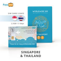 SIM Card Singapore & Thailand 5 Hari Unlimited - simcard