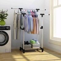 Stand Hanger Double Rak Gantungan Jemuran Pakaian Serbaguna - DOUBLE