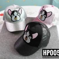 TP02 - topi glitter dog hat cap anak balita toddler kids baseball