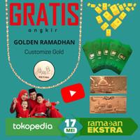 Goldbar THR Amplop Lebaran Logam Mulia Emas Murni 24K 0.1gram Vol3
