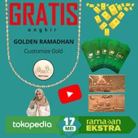 Goldbar THR Amplop Lebaran Logam Mulia Emas Murni 24K 0.1gram Vol2