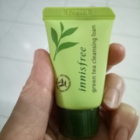 inisfree cleansing foam travel size green tea olive real