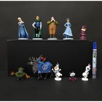Pajangan Mainan Disney Action Figure Dan Frozen Isi 10 Pcs
