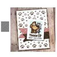 Dog paw background Metal cutting dies cut die card Scrapbook paper
