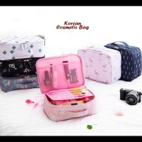 Korean Cosmetic Bag Sekat Bisa Di Lepas (Tas Kosmetik, Korean Style)