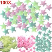 100pcs Stiker Bintang Glow in the Dark Star Wall Sticker