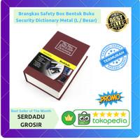 Brangkas Safety Box Bentuk Buku Security Dictionary Metal (L / Besar)