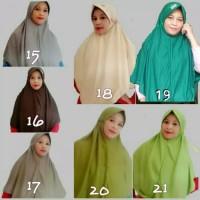 Terlaris Kerudung Jilbab Instan Bergo Serut Polos Anak Sekolah Smp Sma