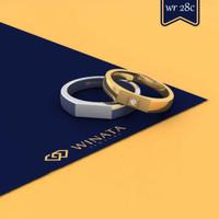 Cincin Nikah Couple Platinum 10% +Emas Kuning 50% Desain WR-28c