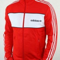 ADIDAS ORIGINAL BLOK TRACKTOP RED