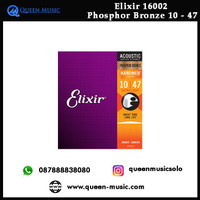 Senar elixir 16002 nanoweb extra light phosphor bronze akustik 10 - 47