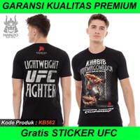 Promo Kaos UFC Khabib Nurmagemedov, Baju UFC, T shirt UFC Premium