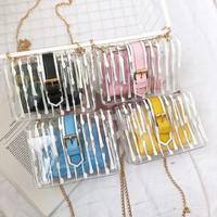 aksesoris tas wanita mini selempang bag kuning yellow rainbow pastel