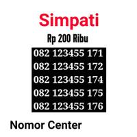 no Perdana Simpati Seri Urut 5 Angka 12345-082 123455 171 s1