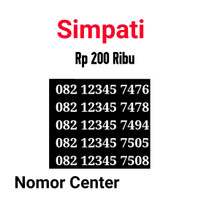 no Cantik Simpati Seri Urut 5 Angka 12345-082 12345 7476 s9