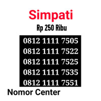 no Perdana Simpati Seri Kuartet 1111-0812 1111 7505 s0