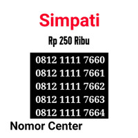 no Perdana Simpati Seri Kuartet 1111-0812 1111 7660 s5