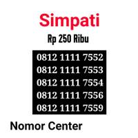 no Perdana Simpati Seri Kuartet 1111-0812 1111 7552 s2