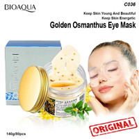 BIOAQUA GOLDEN OSMANTHUS EYE MASK - MASKER MATA GOLDEN ISI 80 LEMBAR