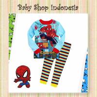 Setelan Piyama Anak Import Murah Baju Tidur Anak Kartun Spiderman Kids