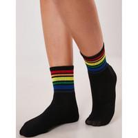 Kaos Kaki Ankle Rainbow Stripes