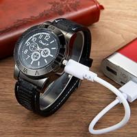 Jam Tangan Pria Korek Elektrik USB Hadiah Api Rokok Quartz Casio OULM