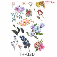 Temporer Tato 1 set full Bunga bunga - woman tattoo TH 030