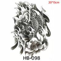 Tato Ikan Koi Oriental Temporer - Japanese Tattoo HB-098