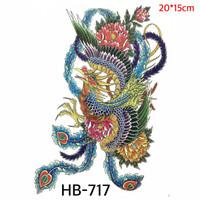 Temporary Tattoo Phoenix - Burung Hong Oriental - Tato Tempel HB-717
