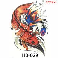 Tato Ikan Koi Oriental Temporer - Japanese Tattoo HB-029