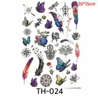 1 set Full Temporary Tattoo Etnik - Set Full Tato TH 024