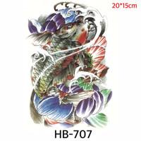 Tato Ikan Koi Oriental Temporer - Japanese Tattoo HB-707