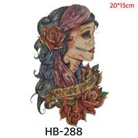 HB 288 Temporary Tattoo Mystique Woman - Tato Sticker