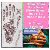 Henna Mehndi Temporary Tattoo-HS-1811-3-Fashion Sticker Body Art