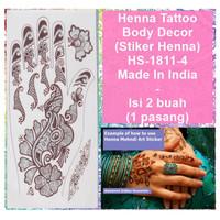 Henna Mehndi Temporary Tattoo -HS-1811-4 -Fashion Sticker Body Art