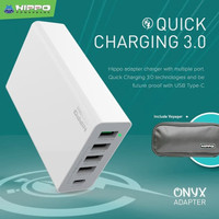 Hippo Onyx 5 Output Adaptor Charger QUICK CHARGING 3.0 - Simple Pack