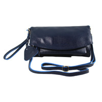 Sling and Clutch Pullup Julia Navy Jeruk - Kenes Leather