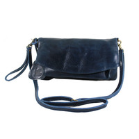 Sling and Clutch Pullup Julia Navy - Kenes Leather