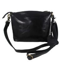 Sling Bag Simple Andini Dark Black polos