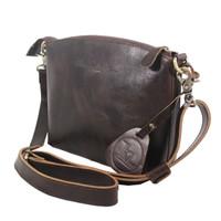 Sling Bag Simple Andini Dark Brown polos