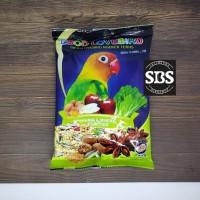 ebod lovebird makanan burung lovebird kemasan plastik sachet