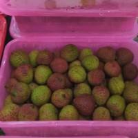 Buah Leci chinese manis biji kecil lomeci lychee cina rrt zhong guo