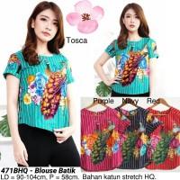 Harga blouse batik cewek modern atasan cantik etnik baju wanita | antitipu.com