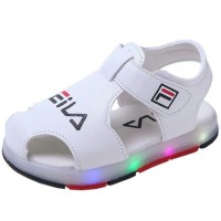 SPT12 - sepatu sandal LED filla putih walker shoes anak balita toddler