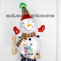 balon foil merry christmas snowman balon foil natal boneka salju