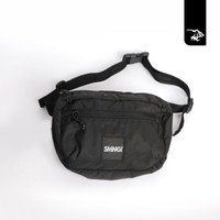 Simamaung Store Ready Stock Waist Bag SMNG Logo Woven Black