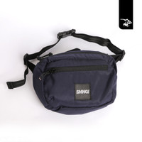 Simamaung Store Ready Stock Waist Bag SMNG Logo Woven Navy