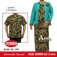 Sarimbit Gamis Batik Couple Cardigan SIZE JUMBO