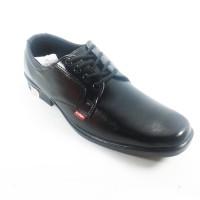 Sepatu Pria Pantofel Cowok Kantor Kerja Murah Dp05 Hitam - Hi