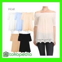 TERBARU WL40 - Sabrina Lace Tops - Atasan Wanita - Pakaian Branded
